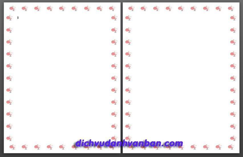 kết quả tạo khung viền bằng hình ảnh tùy ý