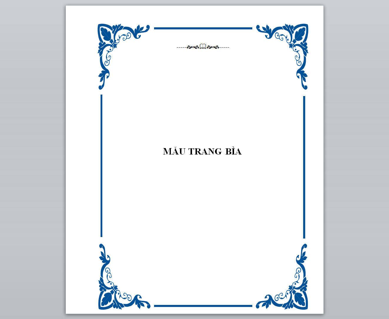 mẫu trang bìa đẹp trong word