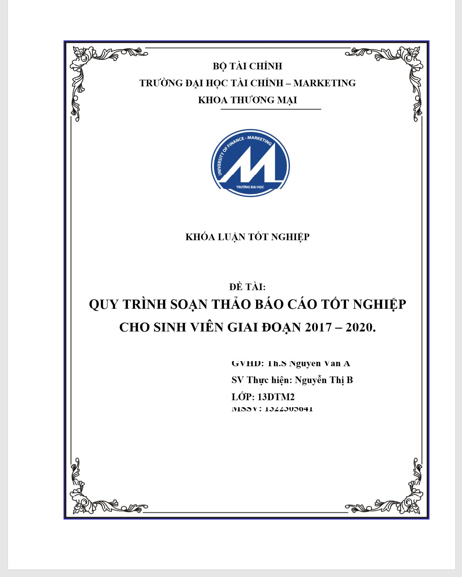 bìa báo cáo tốt nghiệp