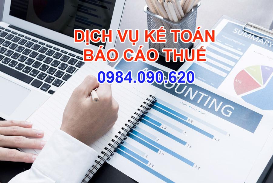 dịch vụ kế toán báo cáo thuế hàng tháng
