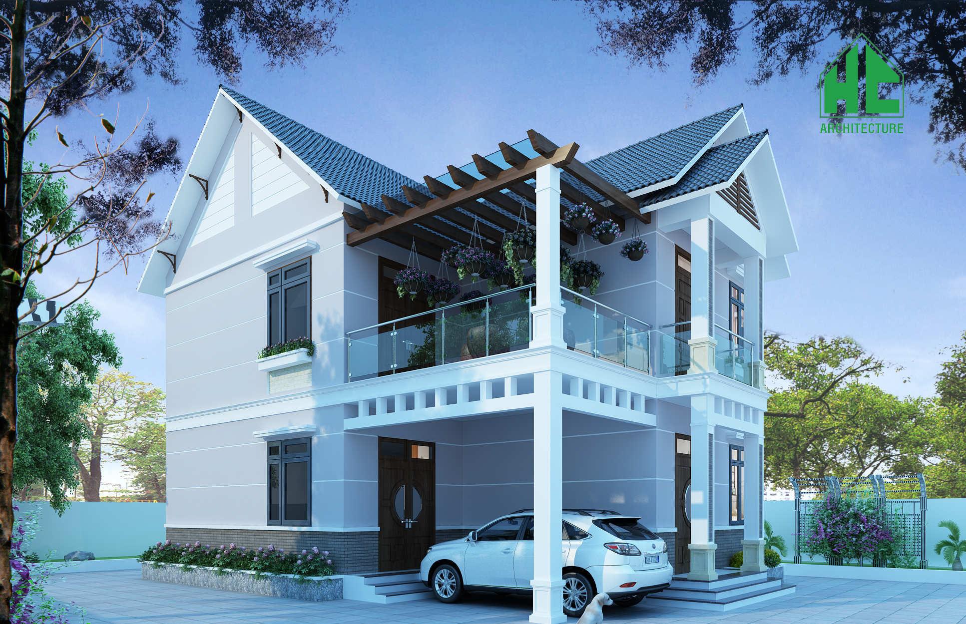 phối cảnh 3D ngôi nhà