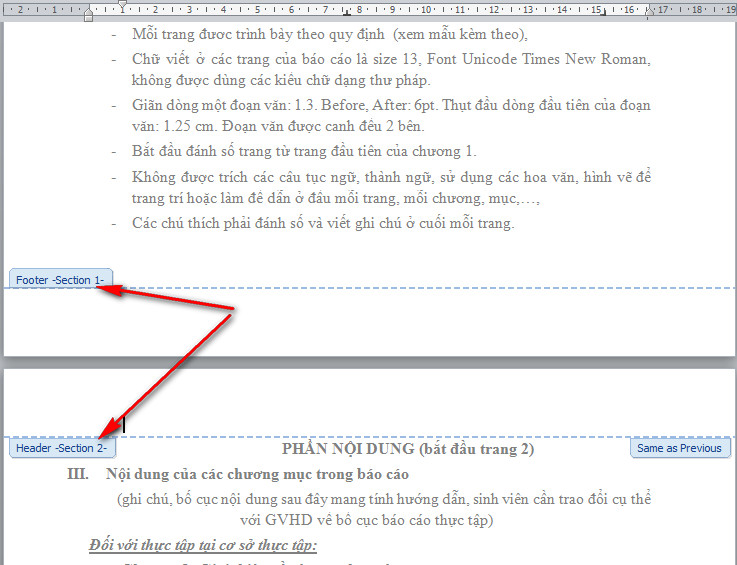 thủ thuật đánh số trang trong word 2007