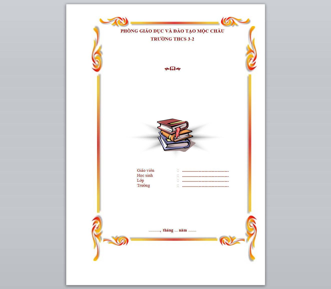tổng hợp mẫu trang bìa đẹp trong word