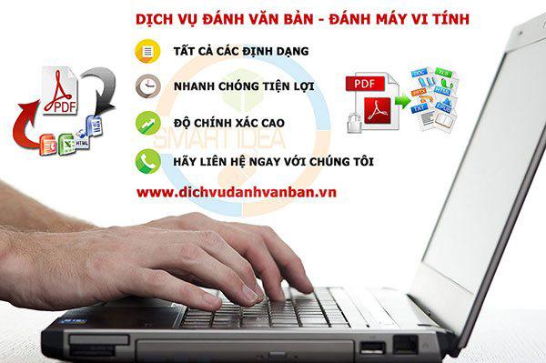 dịch vụ đánh văn bản đánh máy vi tính