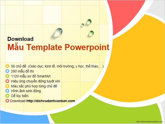 Tổng hợp mẫu slide powerpoint đẹp