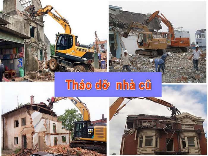 tháo dỡ nhà cũ