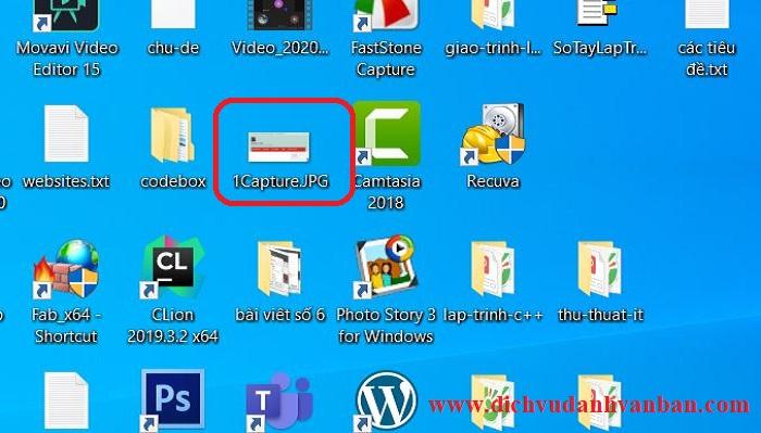 File được khôi phục sẽ hiện ra Desktop