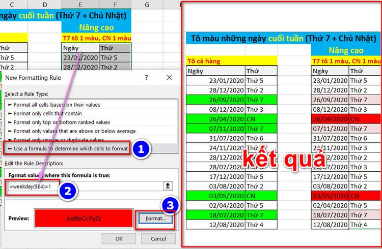 Tô Màu Có Điều Kiện Thông Minh Trong Excel