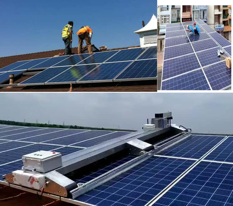 lắp hệ thống pin năng lượng mặt trời