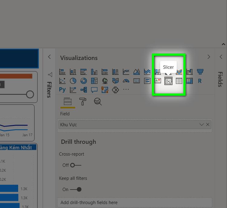 Tạo dashboard trong POWER BI